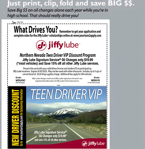 Printable New Driver Discount Card